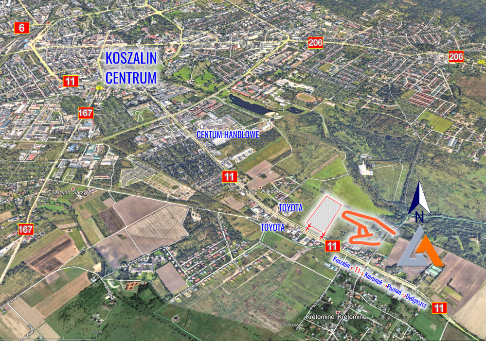Panorama terenu - Koszalin
