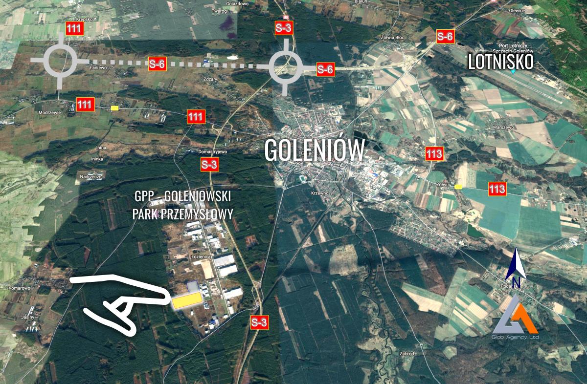 Koszalin Lokalizacja terenu na mapie