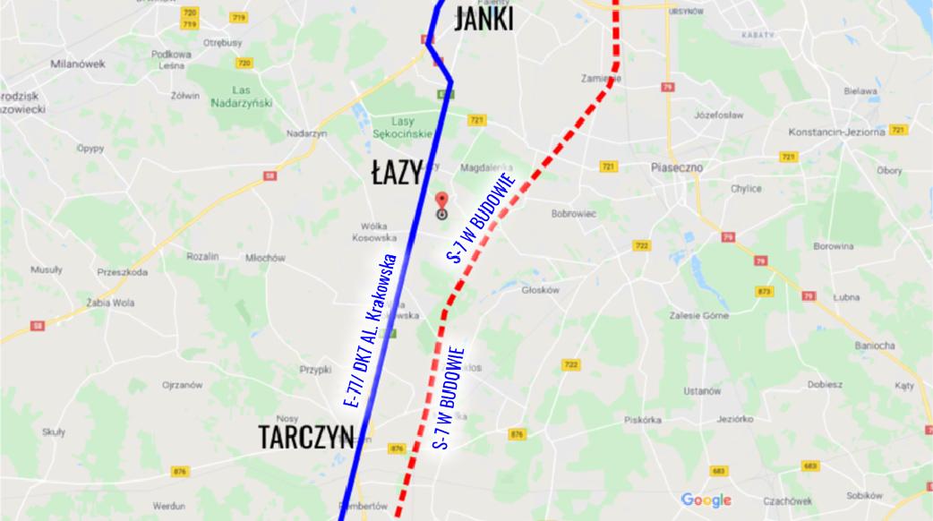 GogleMap_Tarczyn - Warszawa